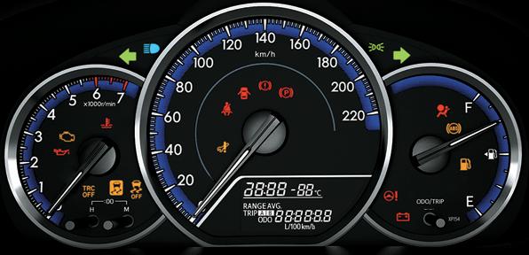 Bảng đồng hồ và đèn báo trên xe ô tô